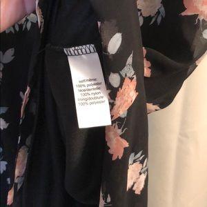 Maurices Dresses - Black w/floral Maurice's dress - size Medium